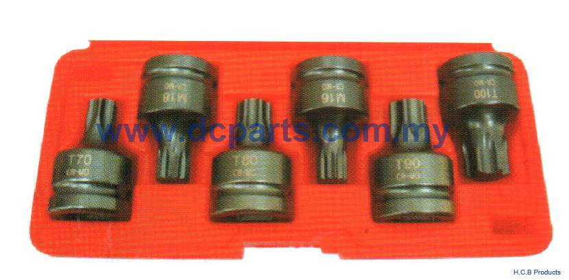 General Truck Repair Tools SCANIA Dr.3/4 TX-STAR & SPLINE IMPACT BIT SOCKET SET 6PCS A2230